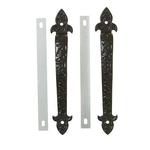 Trousse de poignées décoratives pour portes de garage noir 2MCX