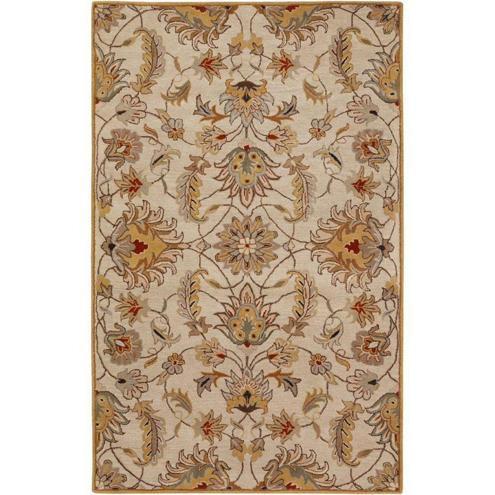 Artistic Weavers Calimesa Gold 6 ft. x 9 ft. Indoor Transitional Rectangular Area Rug