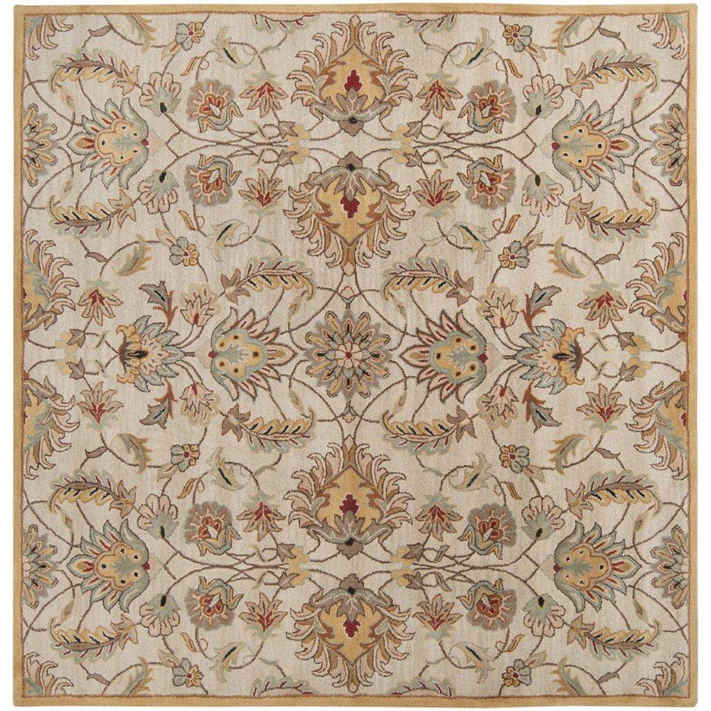 Artistic Weavers Calimesa Gold 8 ft. x 8 ft. Indoor Transitional Square Area Rug
