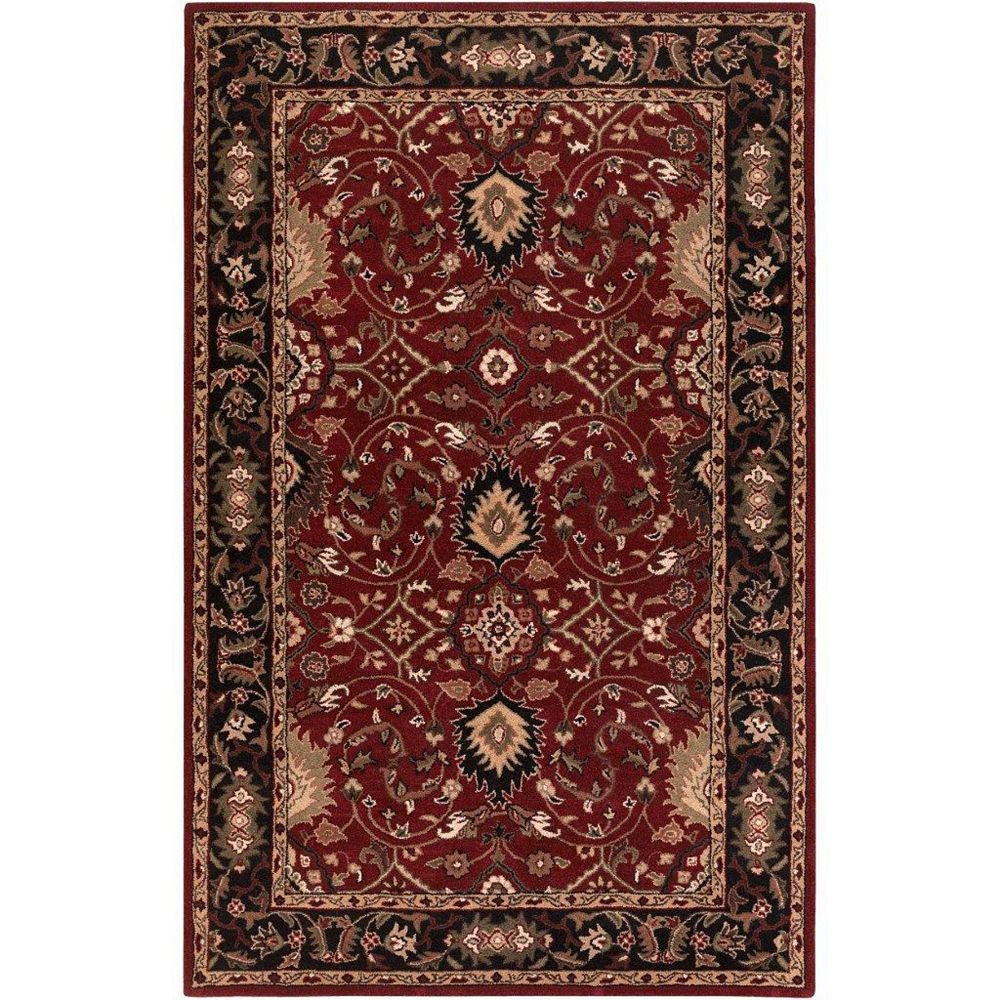 Artistic Weavers Calistoga Red 4 ft. x 6 ft. Indoor Transitional Rectangular Area Rug