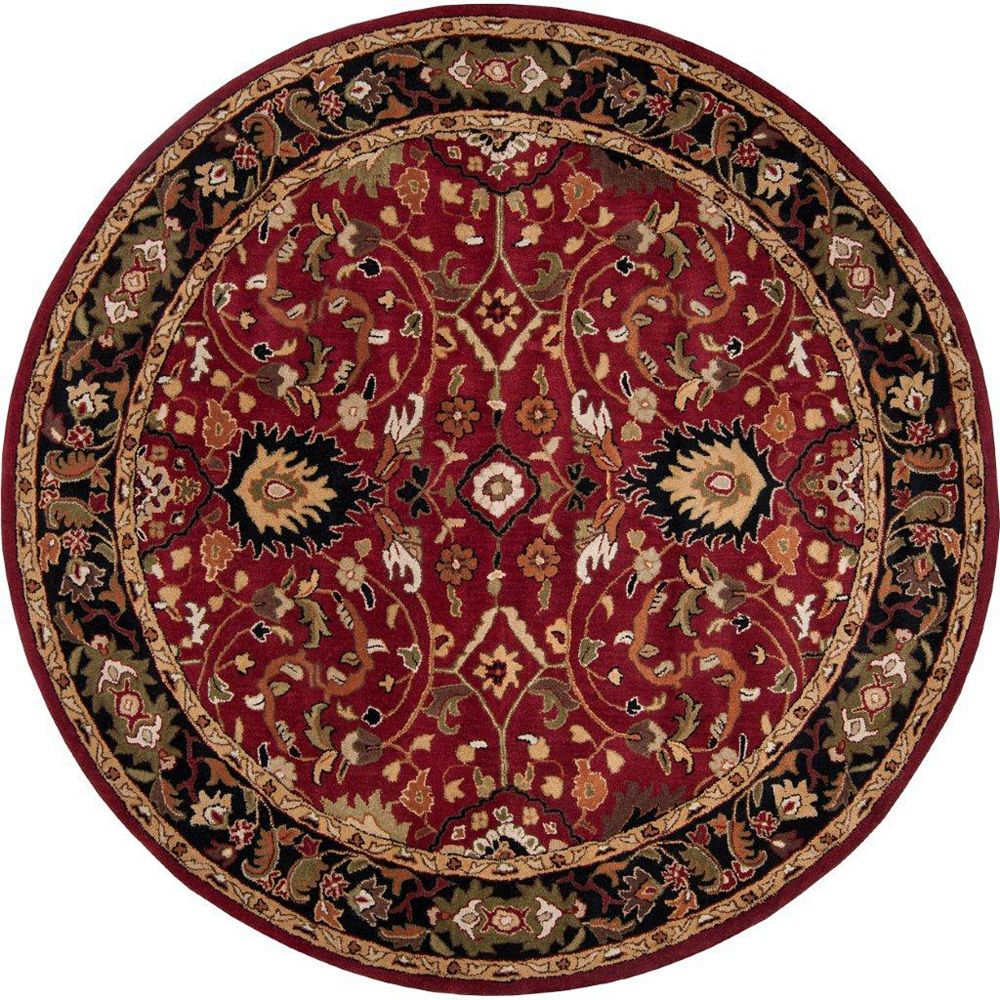 Artistic Weavers Calistoga Red 9 ft. 9-inch x 9 ft. 9-inch Indoor Traditional Round Area Rug