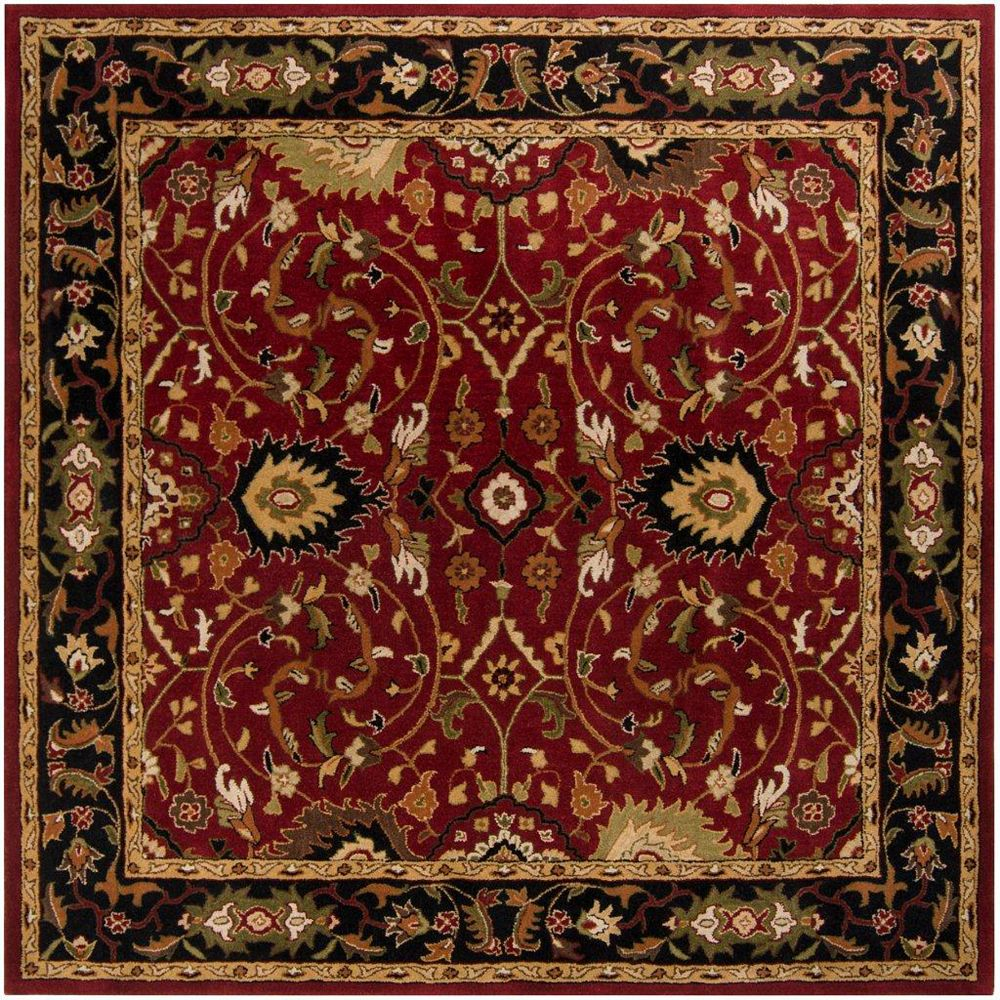 Artistic Weavers Calistoga Red 9 ft. 9-inch x 9 ft. 9-inch Indoor Traditional Square Area Rug