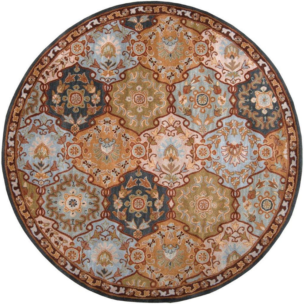 Artistic Weavers Camarillo Blue 6 ft. x 6 ft. Indoor Traditional Round Area Rug