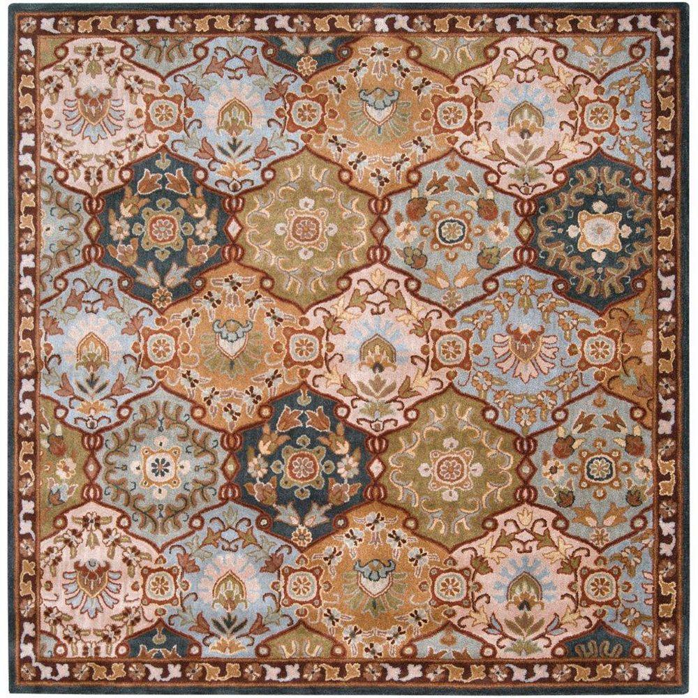 Artistic Weavers Carpette d'intérieur, 8 pi x 8 pi, style traditionnel, carrée, bleu Camarillo