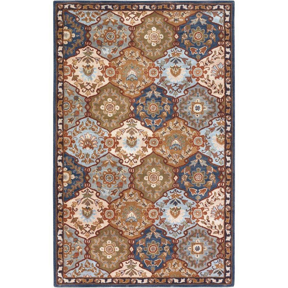Artistic Weavers Camarillo Blue 9 ft. x 12 ft. Indoor Traditional Rectangular Area Rug