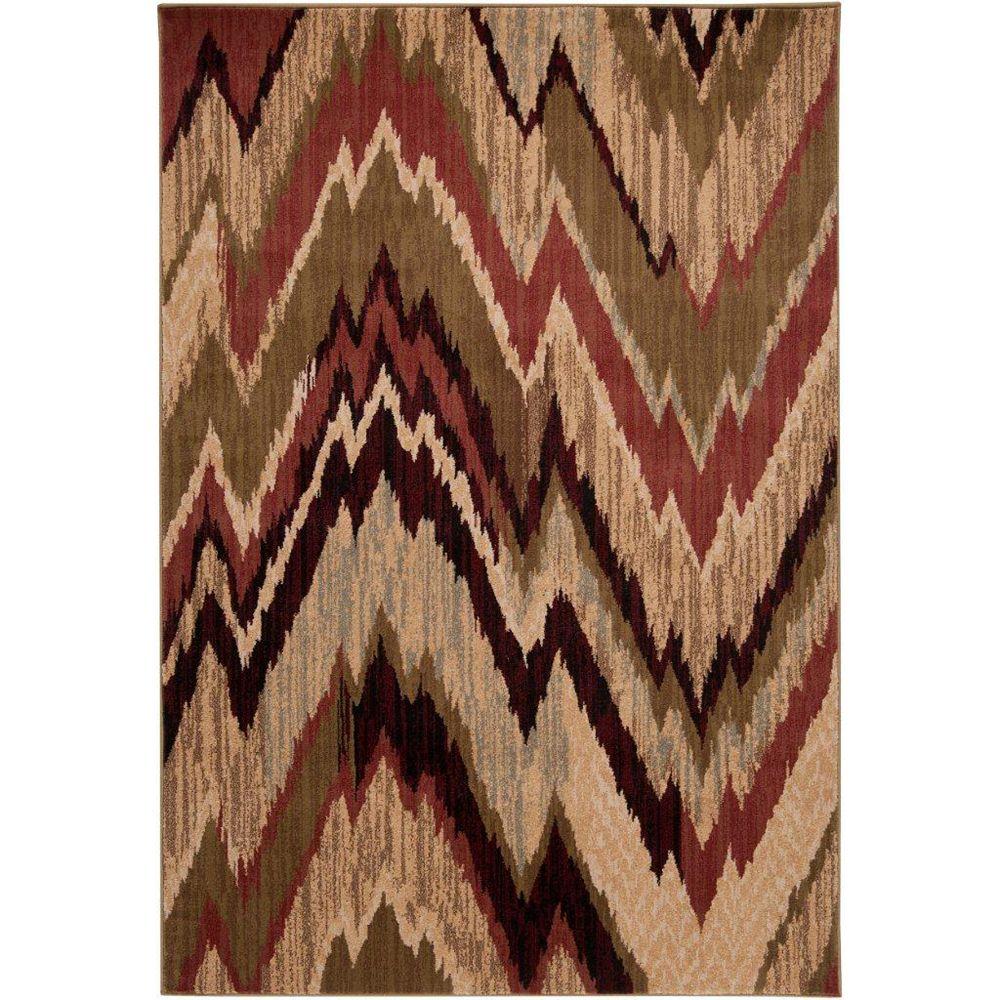 Artistic Weavers Carpette d'intérieur, 4 pi x 5 pi 5 po, style transitionnel, rectangulaire, rouge Camrose