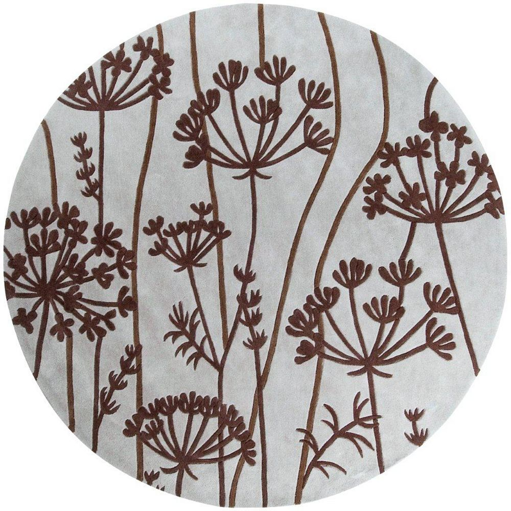 Artistic Weavers Carpette d'intérieur, 8 pi x 8 pi, style transitionnel, ronde, brun Gael