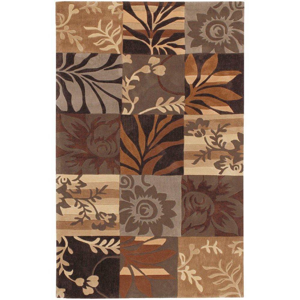 Artistic Weavers Carpette d'intérieur, 3 pi 6 po x 5 pi 6 po, style transitionnel, rectangulaire, brun Gaillac