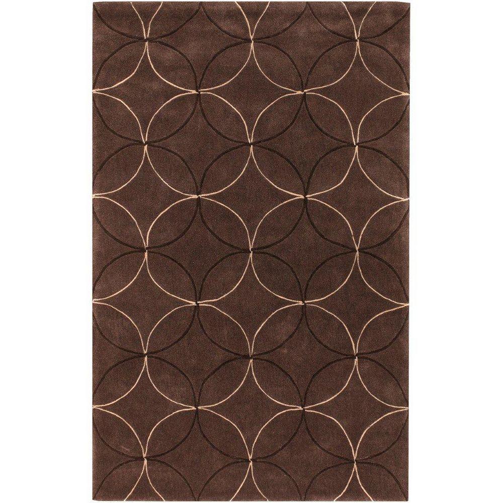 Artistic Weavers Carpette d'intérieur, 3 pi 6 po x 5 pi 6 po, style transitionnel, rectangulaire, brun Jarze