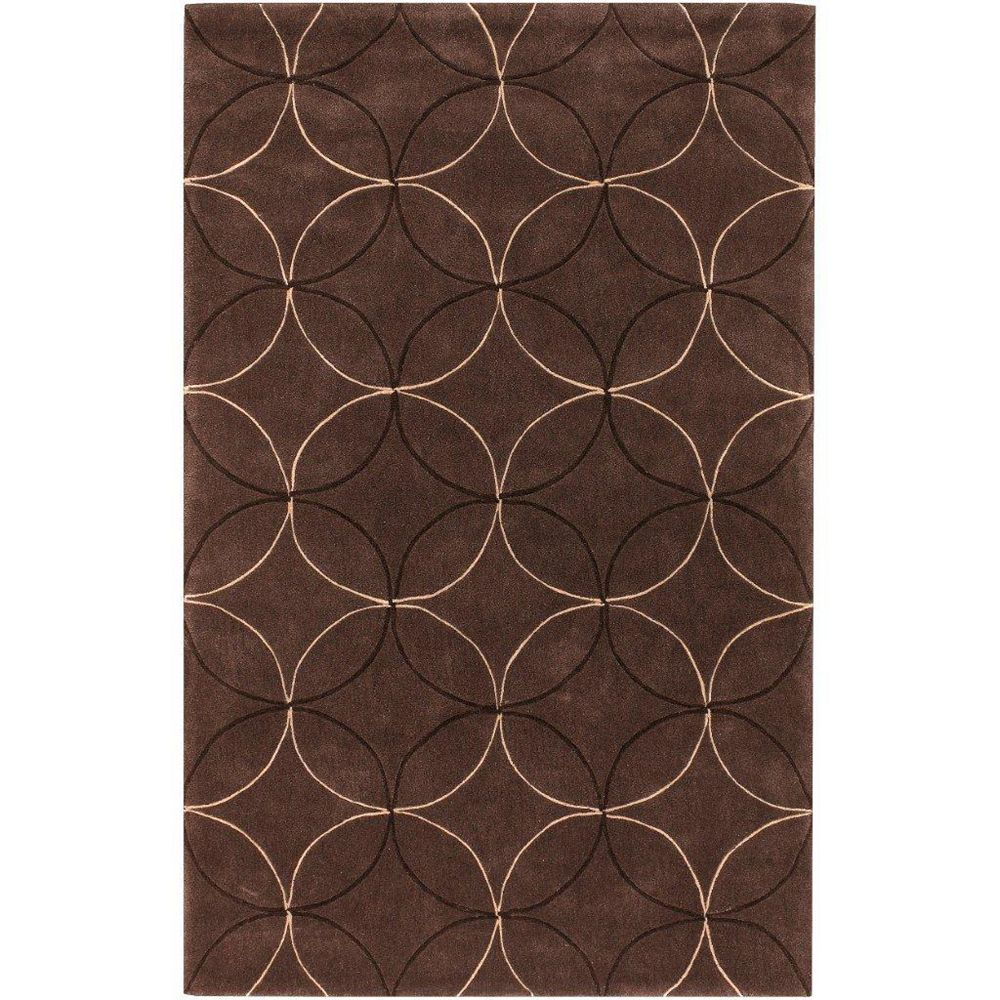 Artistic Weavers Jarze Brown 5 ft. x 8 ft. Indoor Transitional Rectangular Area Rug