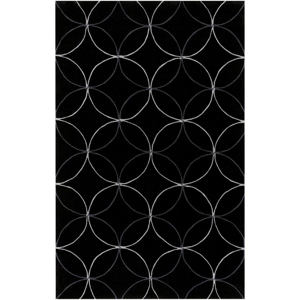 Artistic Weavers Carpette d'intérieur, 8 pi x 11 pi, style transitionnel, rectangulaire, noir Killem