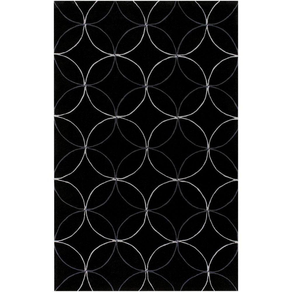 Artistic Weavers Killem Black 9 ft. x 13 ft. Indoor Transitional Rectangular Area Rug