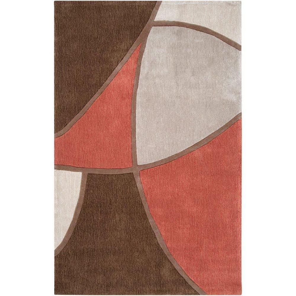 Artistic Weavers Carpette d'intérieur, 2 pi x 3 pi, style transitionnel, rectangulaire, brun Kilstett