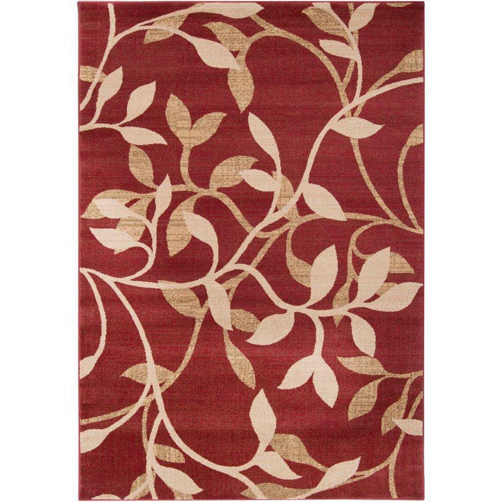 Artistic Weavers Carpette d'intérieur, 5 pi 3 po x 73 pi 6 po, style transitionnel, rectangulaire, rouge Lacombe