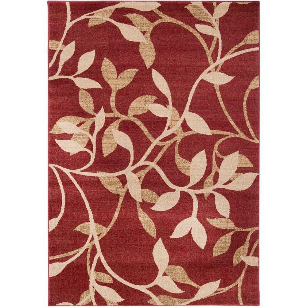 Artistic Weavers Lacombe Red 6 ft. 6-inch x 9 ft. 8-inch Indoor Transitional Rectangular Area Rug