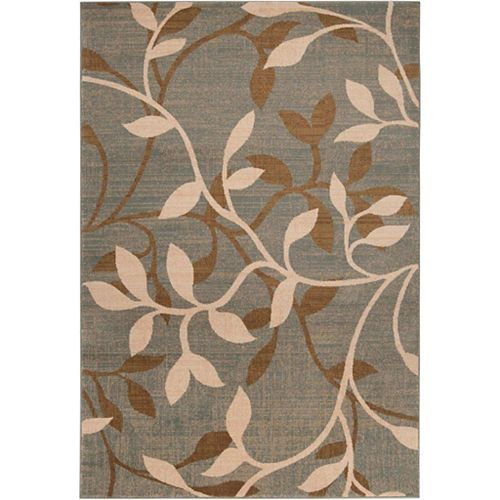 Leduc Grey 5 ft. 3-inch x 7 ft. 6-inch Indoor Transitional Rectangular Area Rug