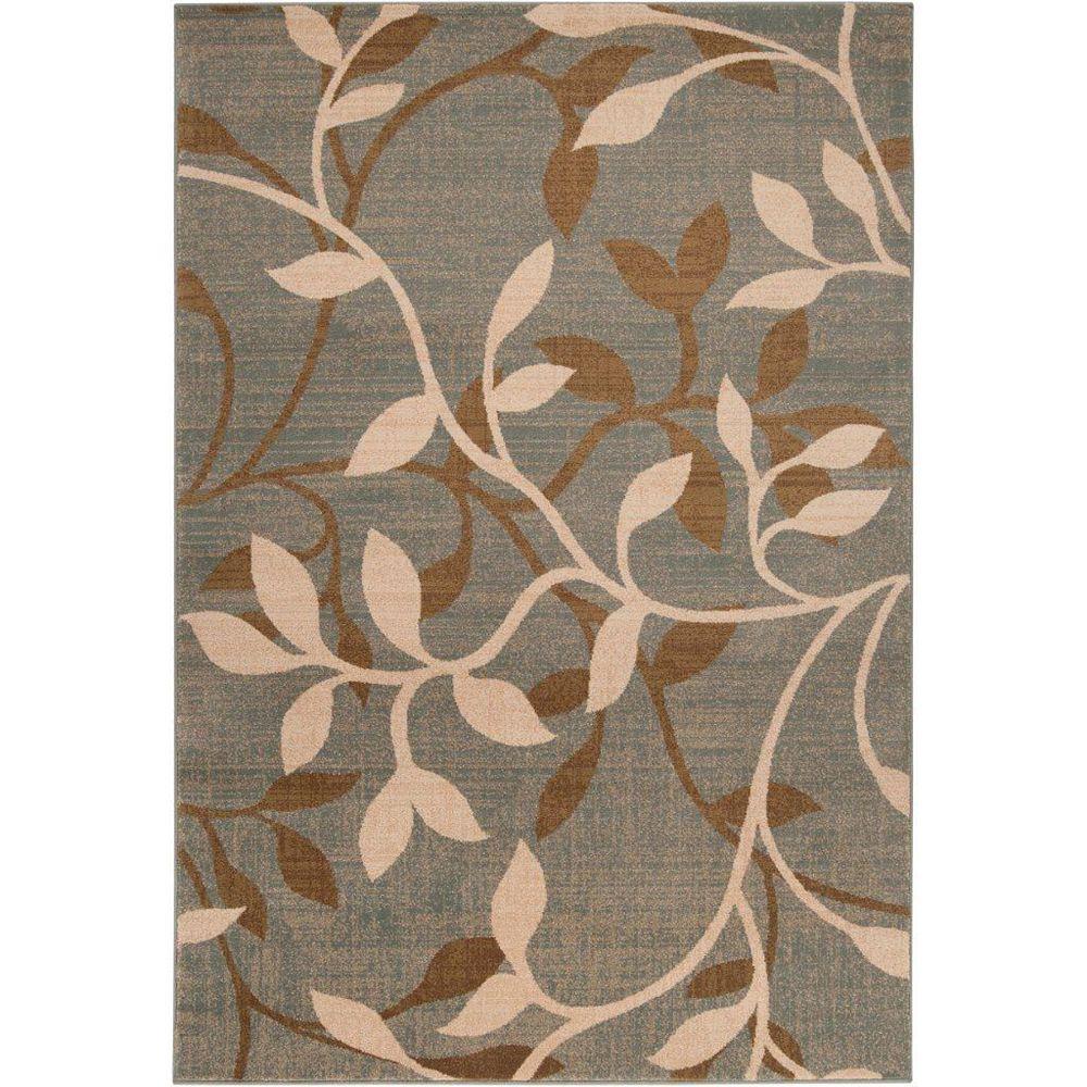 Artistic Weavers Carpette d'intérieur, 6 pi 6 po x 9 pi 8 po, style transitionnel, rectangulaire, gris Leduc