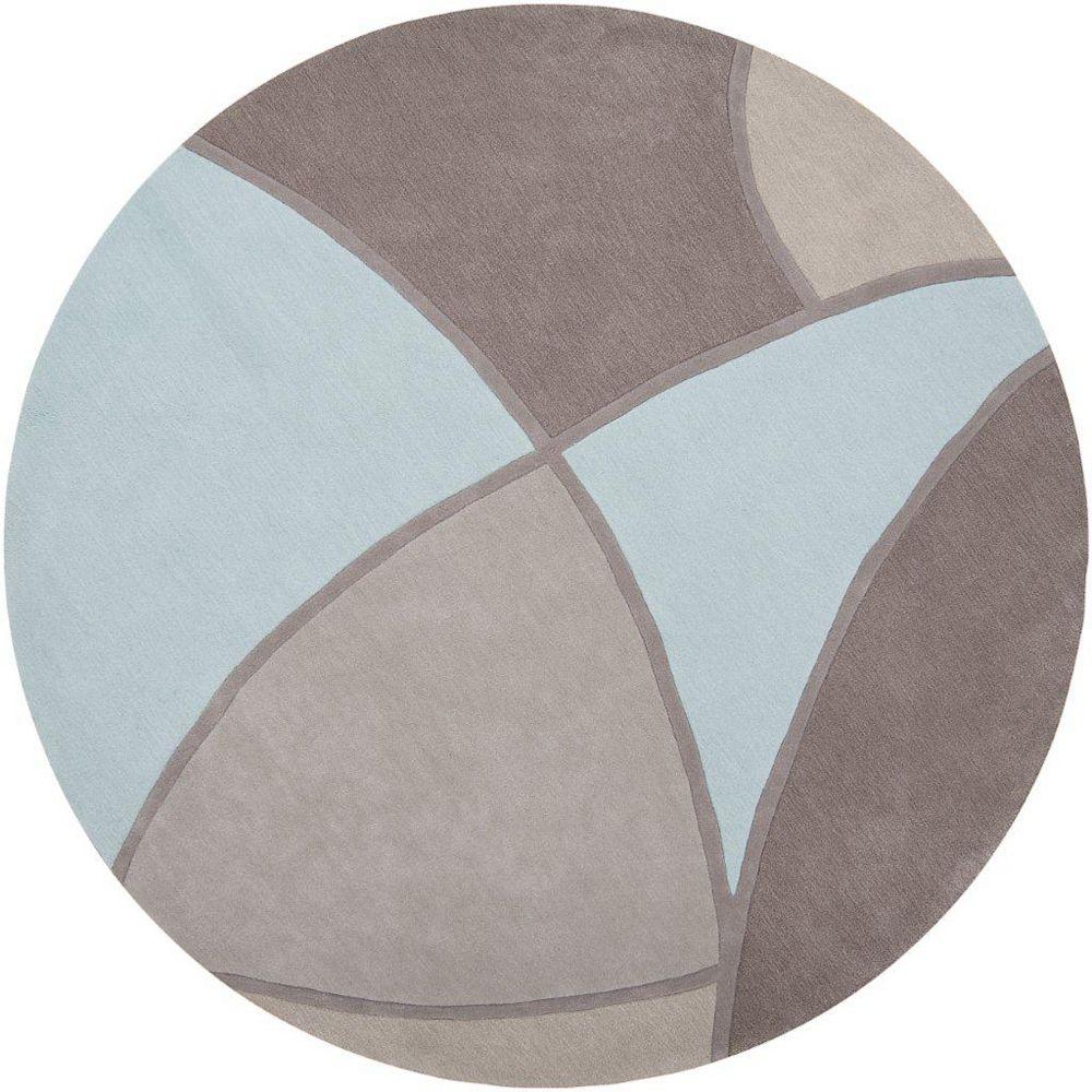 Artistic Weavers Carpette d'intérieur, 8 pi x 8 pi, style transitionnel, ronde, gris Mably