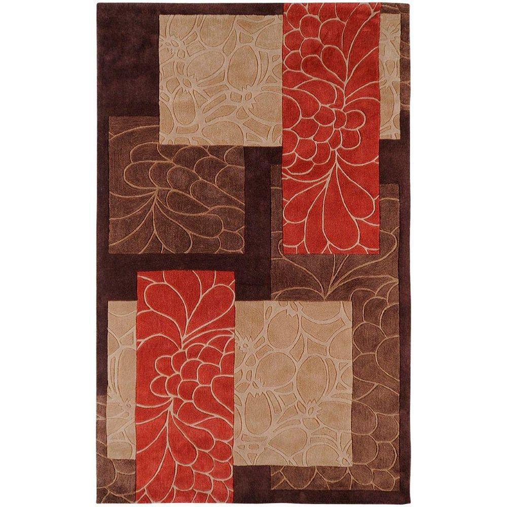 Artistic Weavers Carpette d'intérieur, 3 pi 6 po x 5 pi 6 po, style transitionnel, rectangulaire, brun Macau