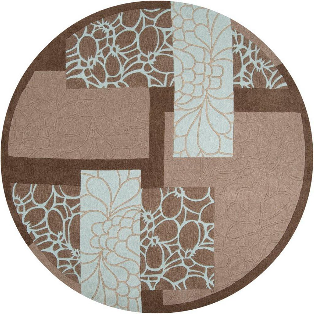Artistic Weavers Manitoba Brown 8 ft. x 8 ft. Indoor Transitional Round Area Rug