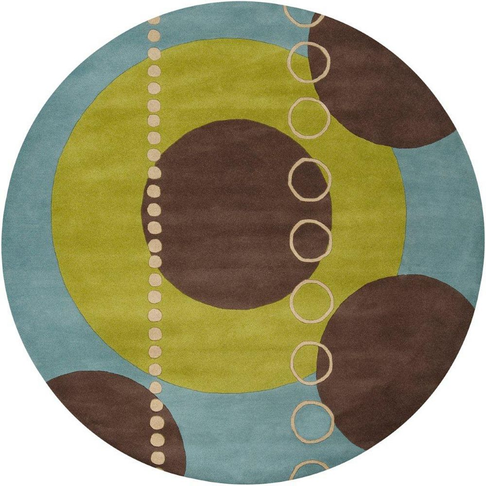 Artistic Weavers Rismes Green 4 ft. x 4 ft. Indoor Contemporary Round Area Rug