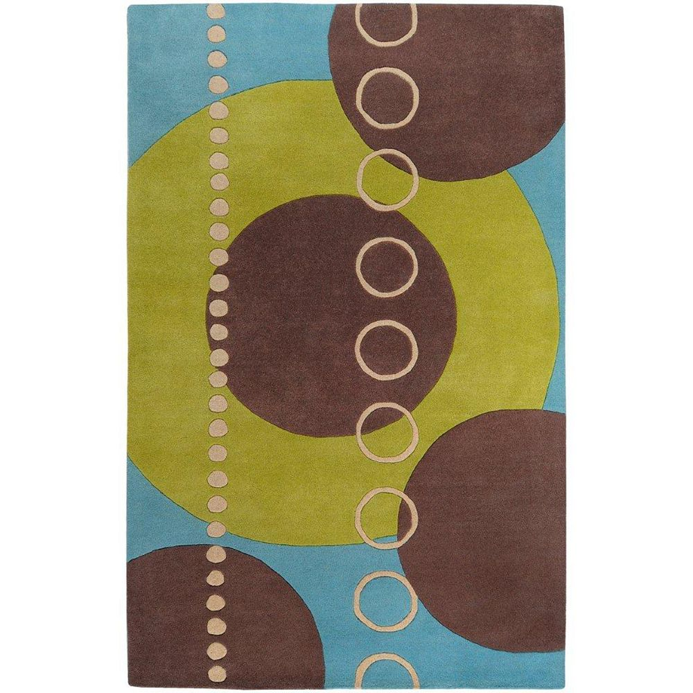 Artistic Weavers Carpette d'intérieur, 6 pi x 9 pi, style contemporain, rectangulaire, vert Rismes