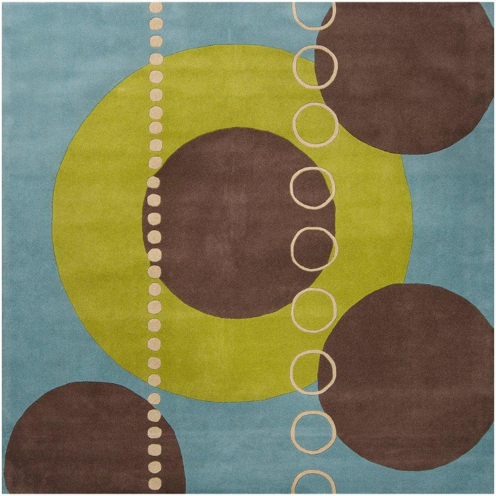 Artistic Weavers Rismes Green 8 ft. x 8 ft. Indoor Contemporary Square Area Rug