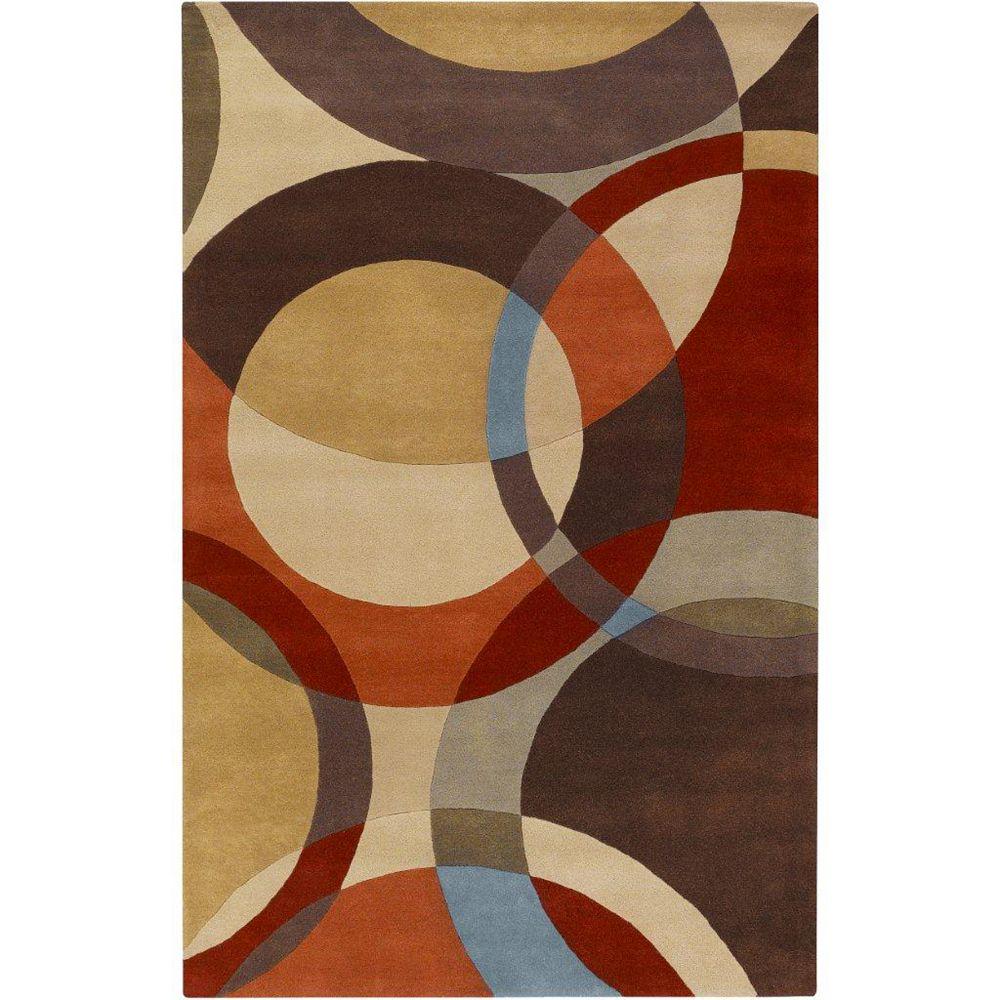 Artistic Weavers Sablet Brown 5 ft. x 8 ft. Indoor Contemporary Rectangular Area Rug