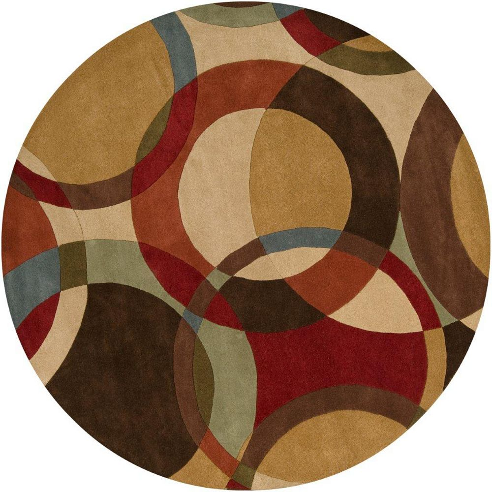 Artistic Weavers Sablet Brown 6 ft. x 6 ft. Indoor Contemporary Round Area Rug