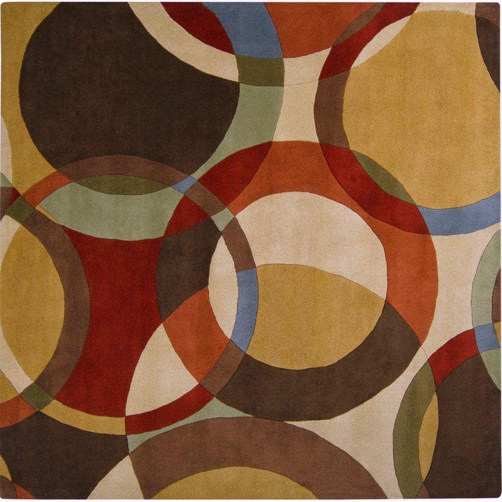 Artistic Weavers Carpette d'intérieur, 6 pi x 6 pi, style contemporain, carrée, brun Sablet