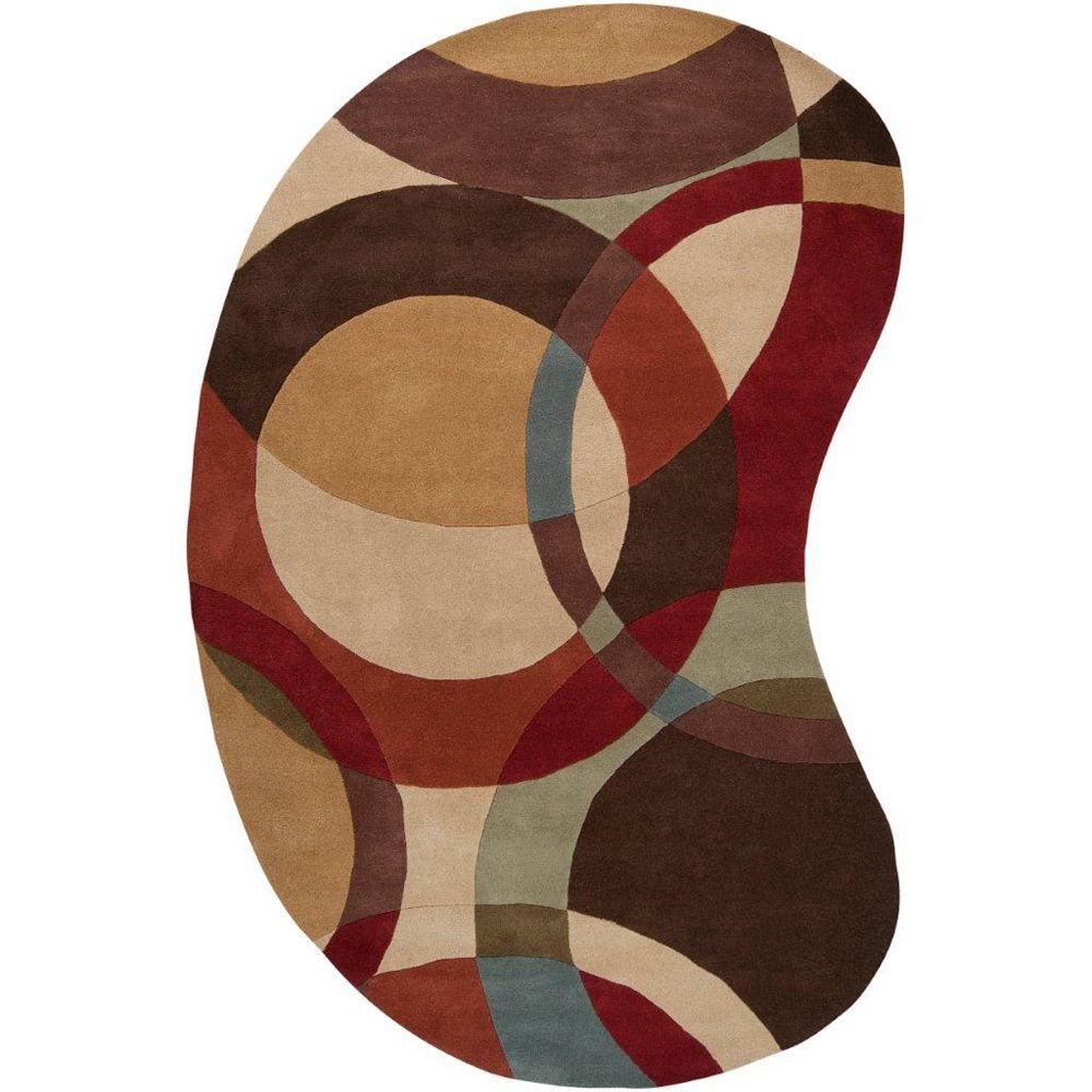 Artistic Weavers Sablet Brown 8 ft. x 10 ft. Indoor Contemporary Irregular Area Rug