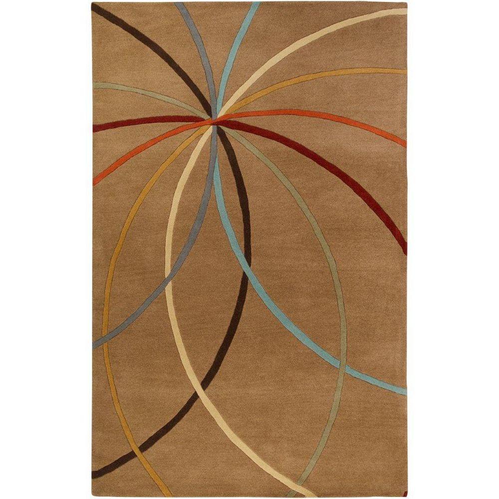 Artistic Weavers Carpette d'intérieur, 2 pi x 3 pi, style contemporain, rectangulaire, brun Sache
