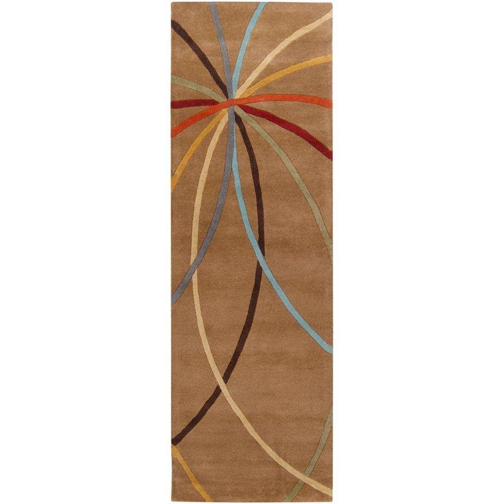 Artistic Weavers Sache Brown 2 ft. 6-inch x 8 ft. Indoor Contemporary Runner