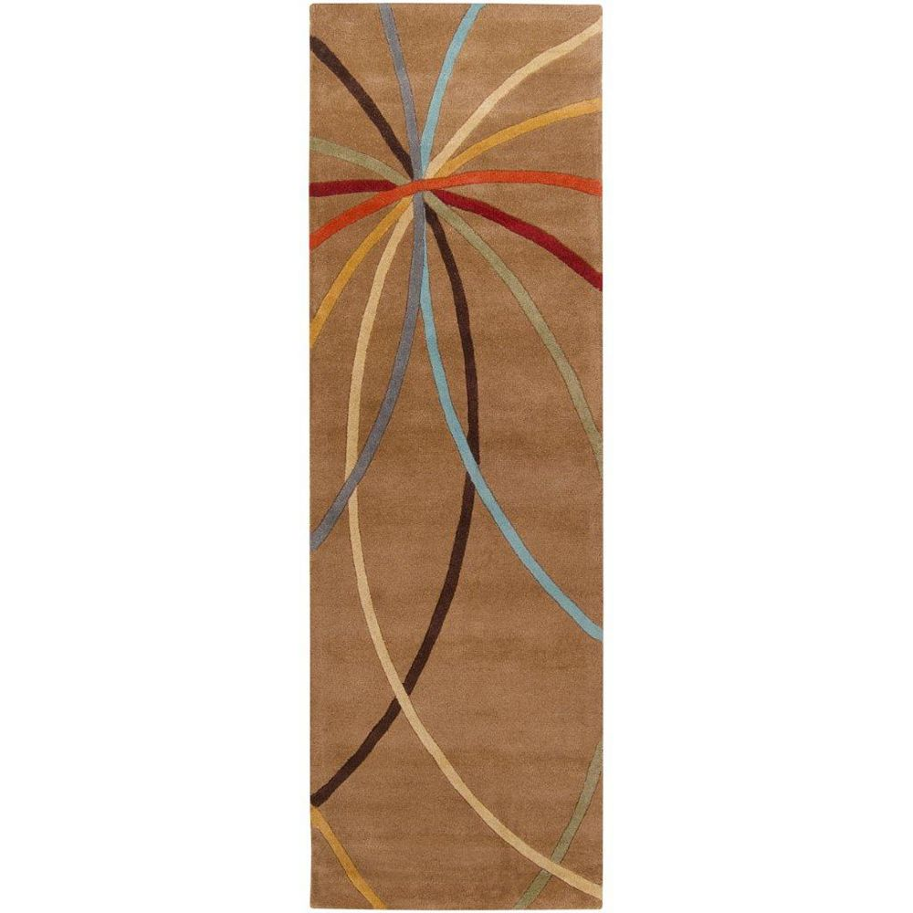 Artistic Weavers Sache Brown 3 ft. x 12 ft. Indoor Contemporary Runner