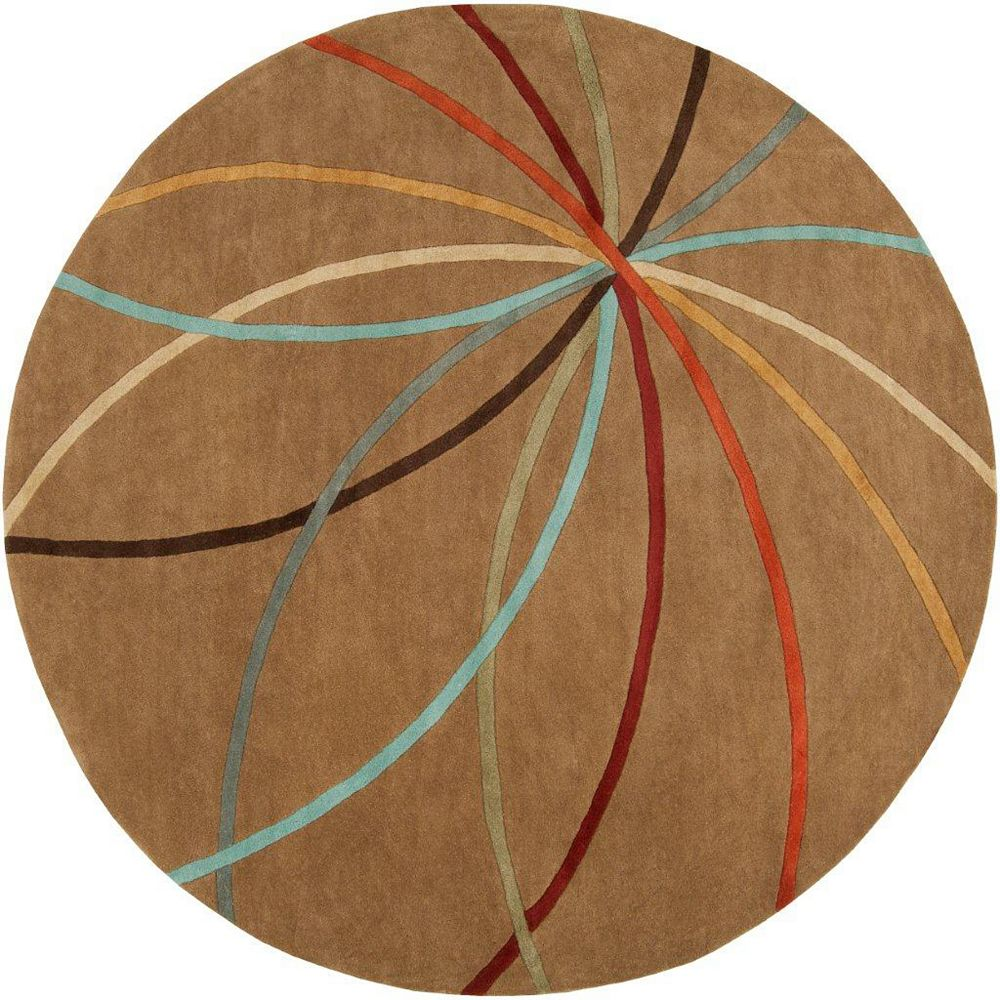 Artistic Weavers Sache Brown 6 ft. x 6 ft. Indoor Contemporary Round Area Rug