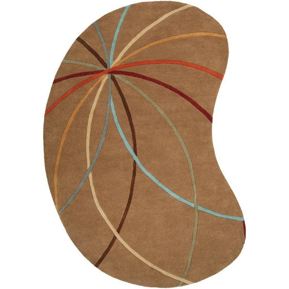 Artistic Weavers Sache Brown 8 ft. x 10 ft. Indoor Contemporary Irregular Area Rug