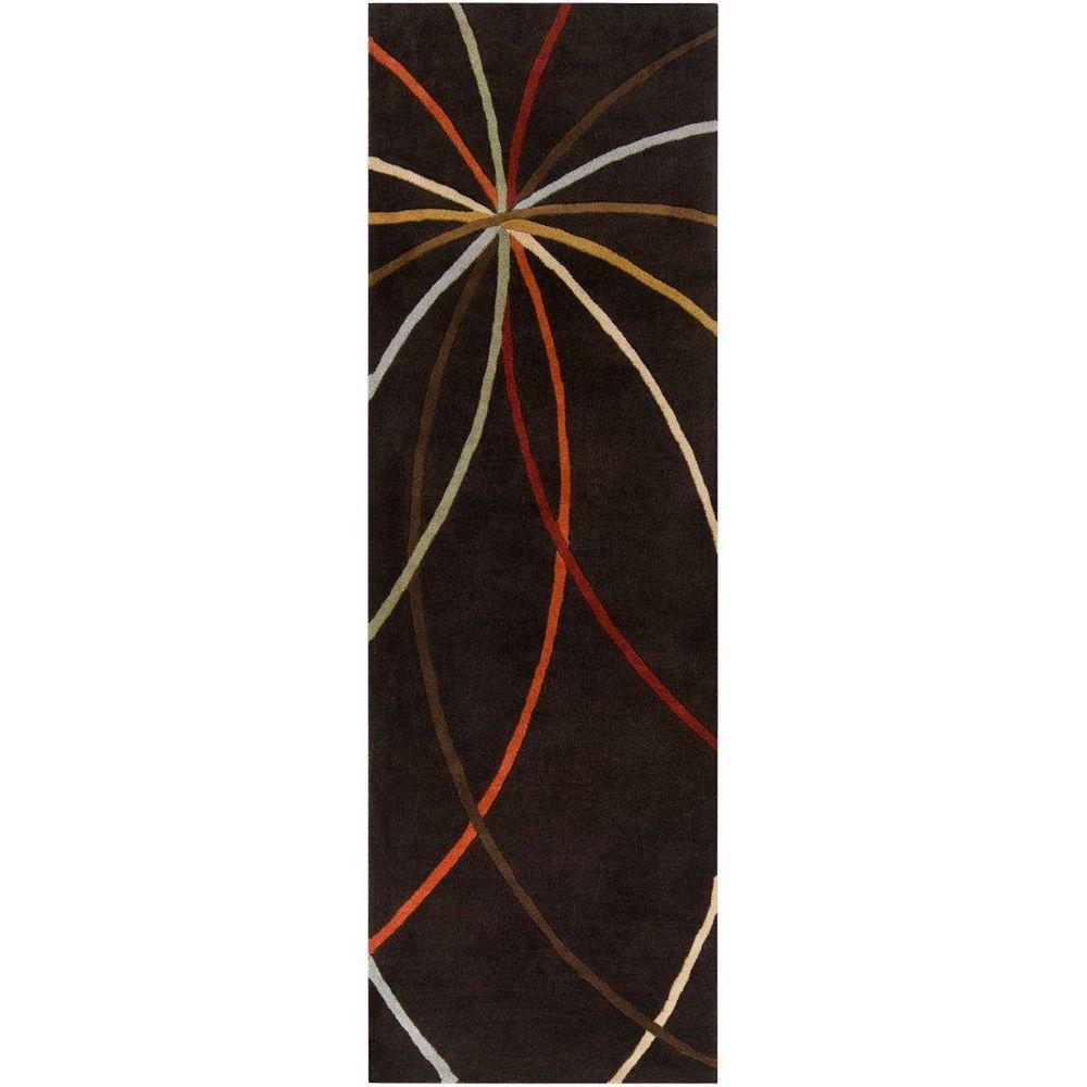 Artistic Weavers Sadirac Black 3 ft. x 12 ft. Indoor Contemporary Runner
