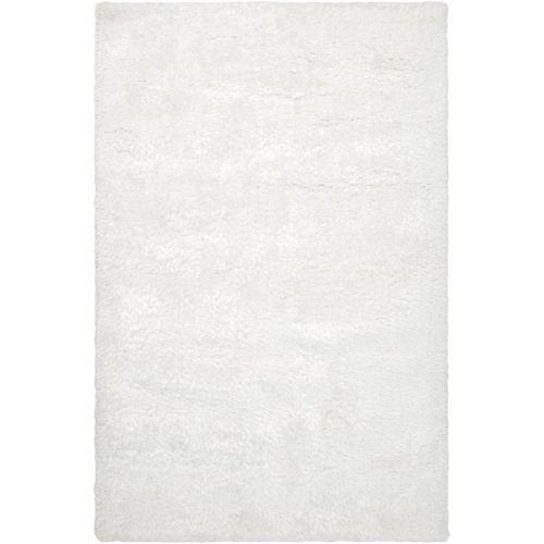 Talmont White 8 ft. x 10 ft. Indoor Shag Rectangular Area Rug