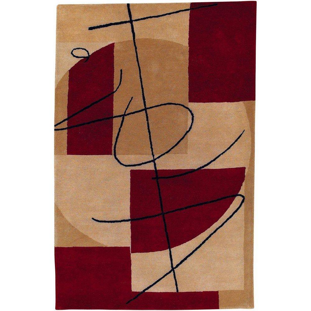 Artistic Weavers Carpette d'intérieur, 8 pi x 11 pi, style transitionnel, rectangulaire, brun Taluyers