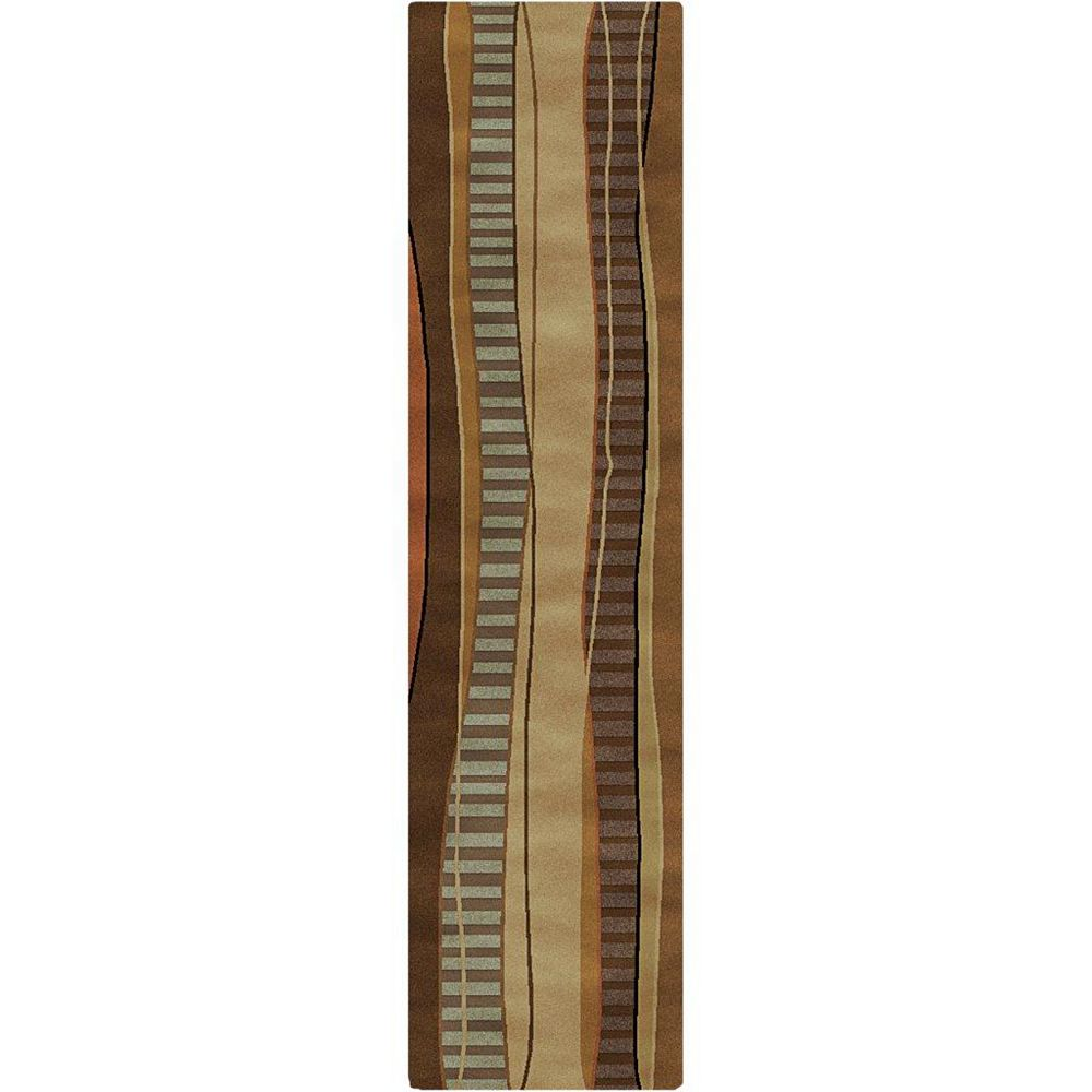 Artistic Weavers Taninges Brown 2 ft. 6-inch x 10 ft. Indoor Transitional Runner