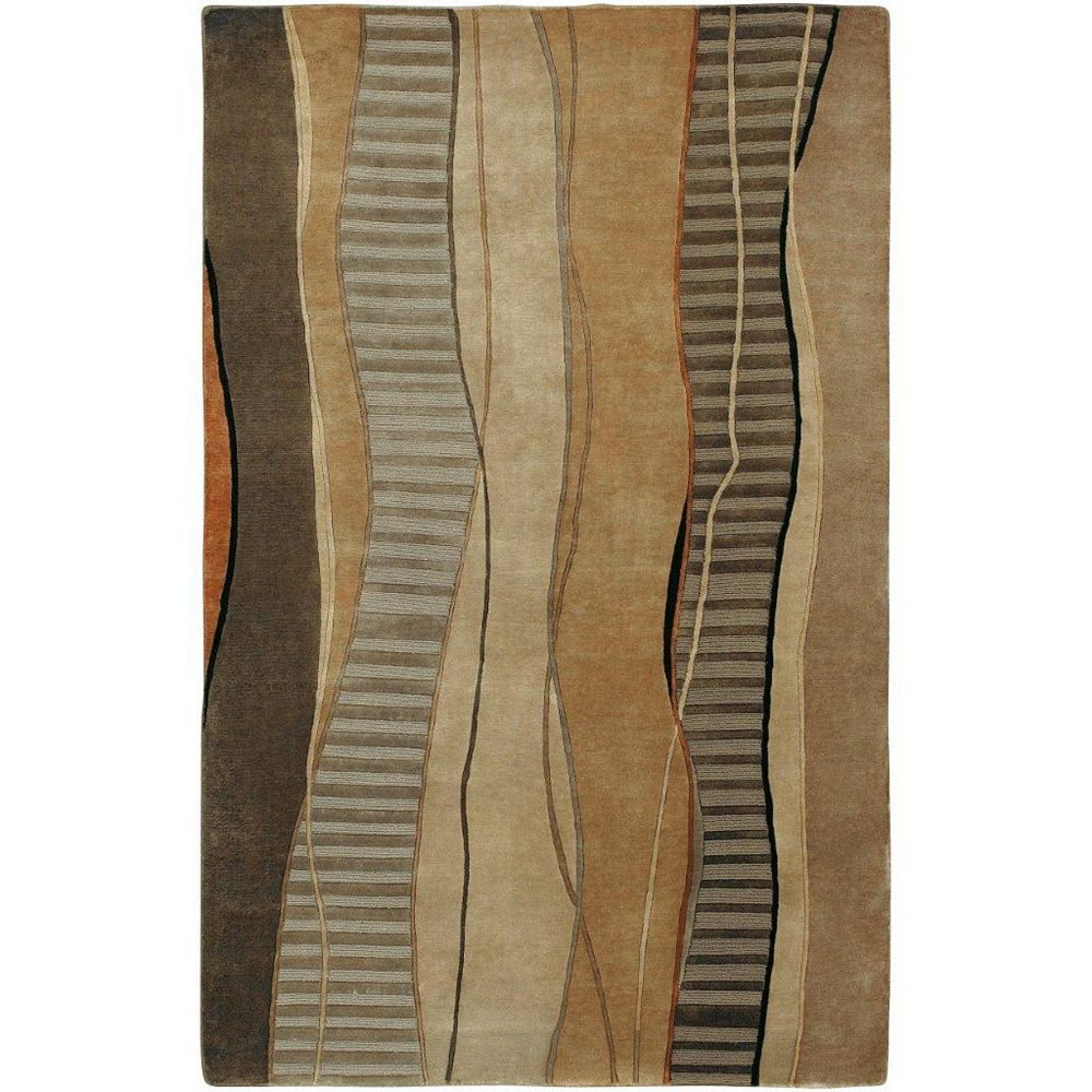 Artistic Weavers Taninges Brown 5 ft. x 8 ft. Indoor Transitional Rectangular Area Rug