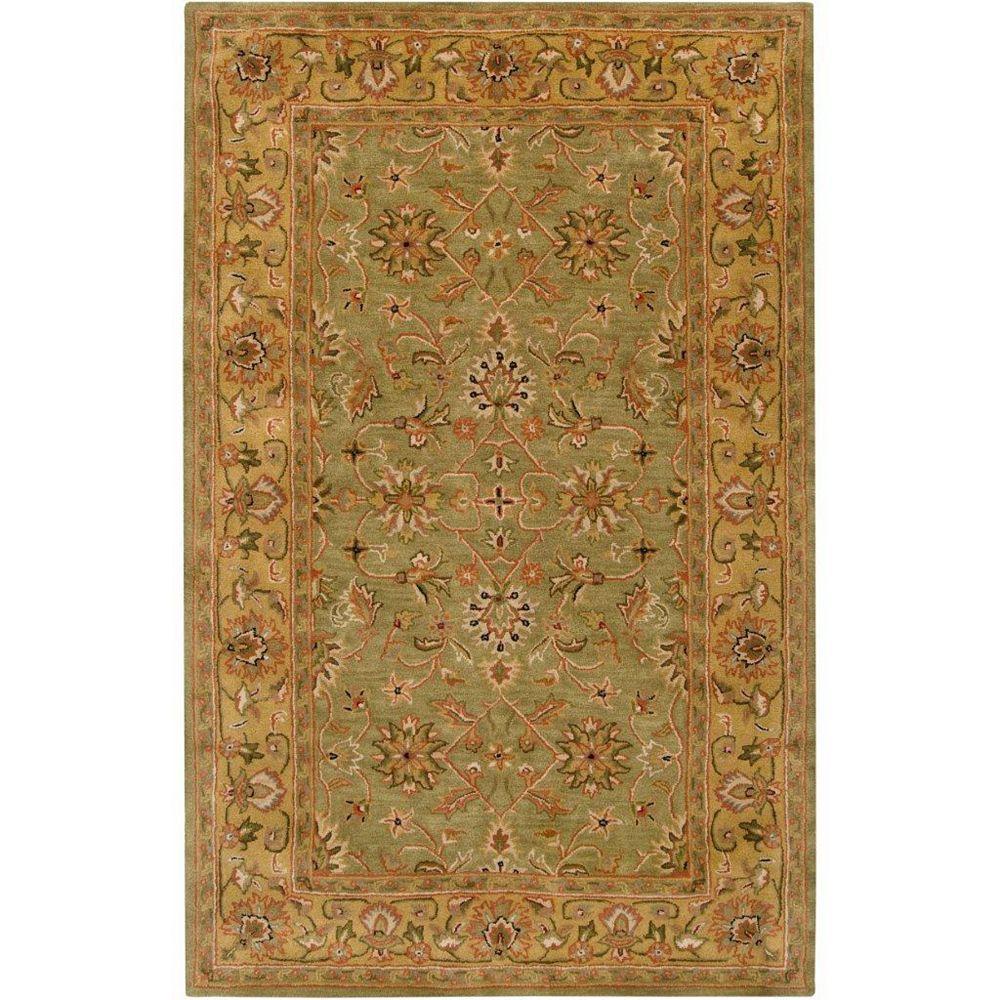 Artistic Weavers Carpette d'intérieur, 5 pi x 8 pi, style transitionnel, rectangulaire, brun Pabu