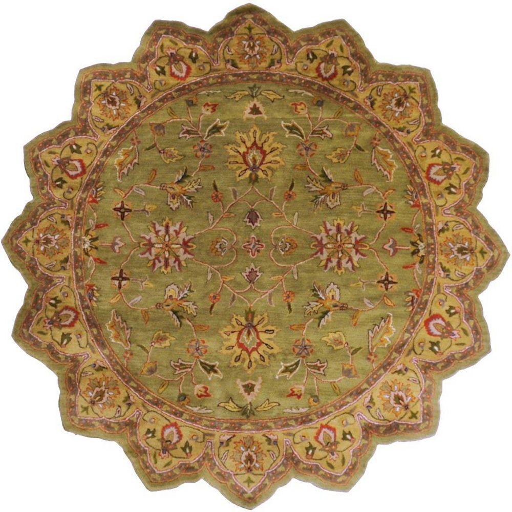 Artistic Weavers Carpette d'intérieur, 8 pi x 8 pi, style traditionnel, forme irrégulière, havane Pabu