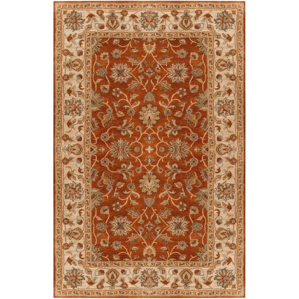 Artistic Weavers Carpette d'intérieur, 2 pi x 3 pi, style traditionnel, rectangulaire, orange Paillet