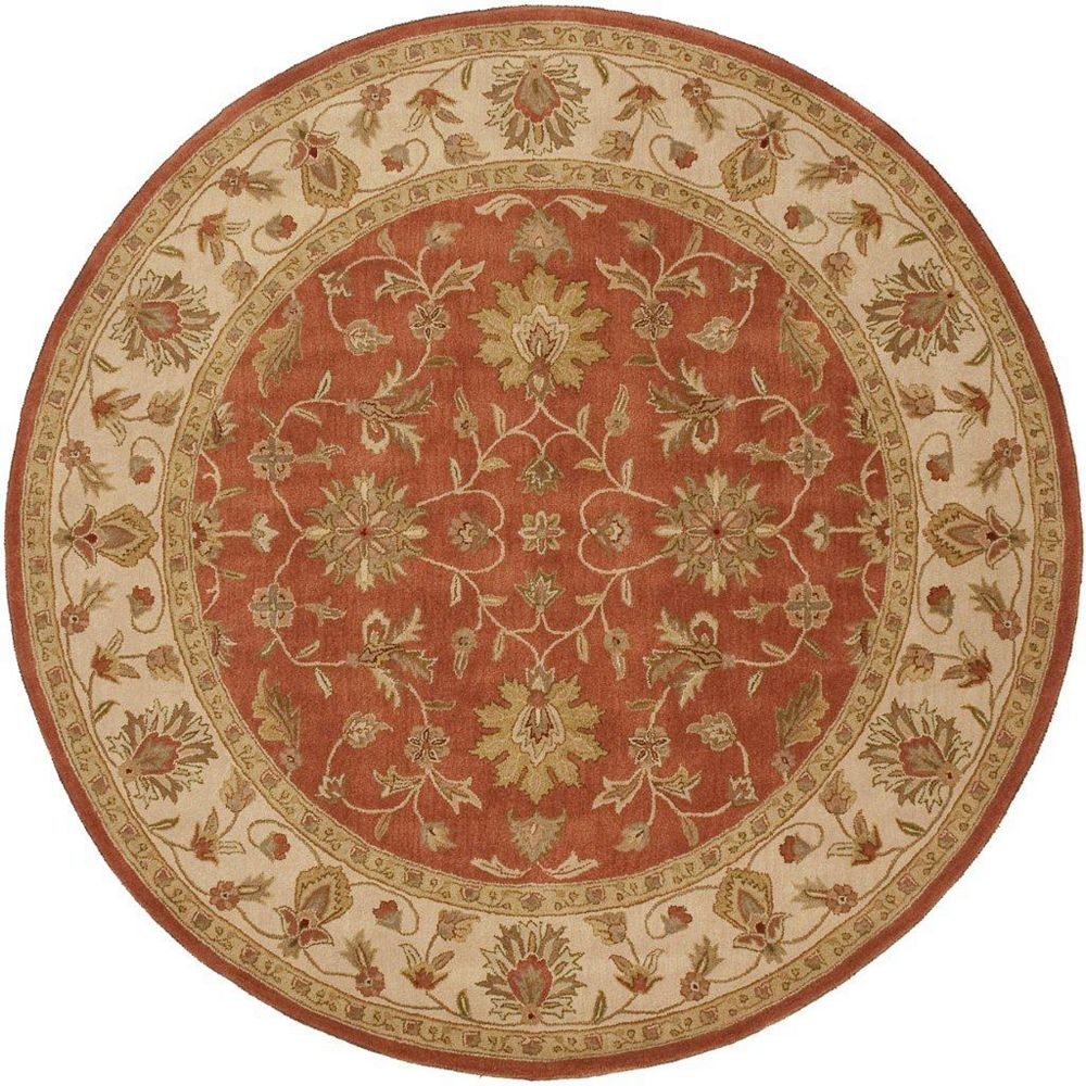 Artistic Weavers Paillet Red 8 ft. x 8 ft. Indoor Traditional Round Area Rug
