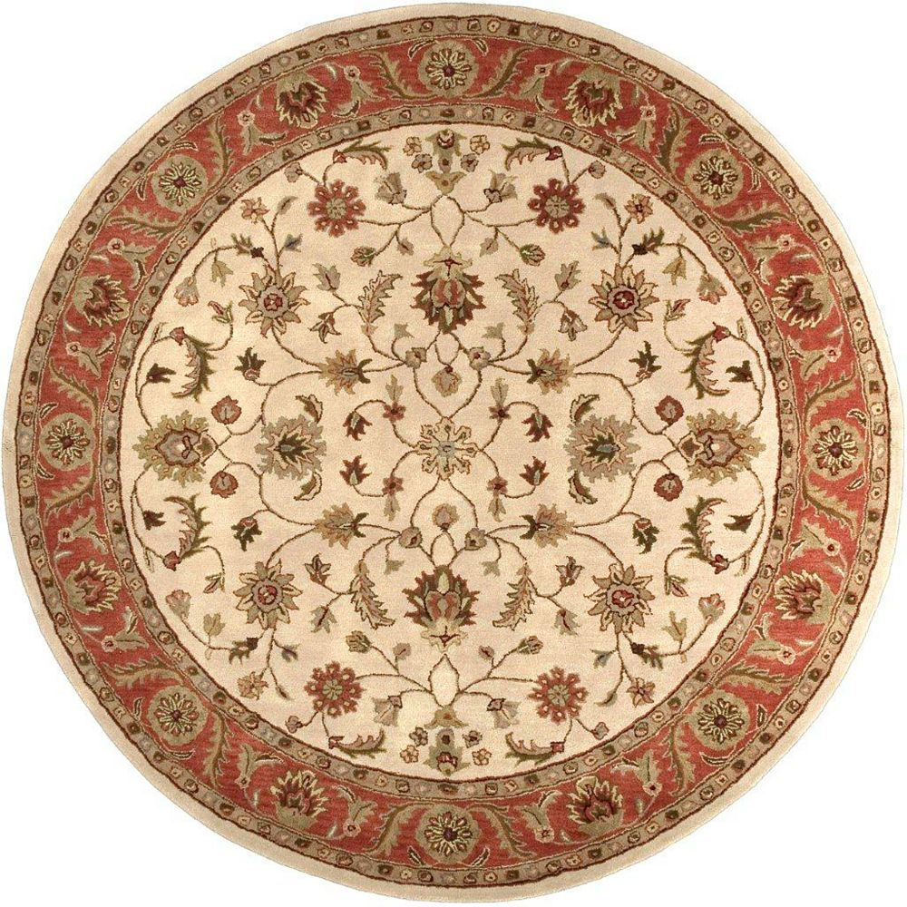 Artistic Weavers Paimpont Beige Tan 8 ft. x 8 ft. Indoor Transitional Round Area Rug