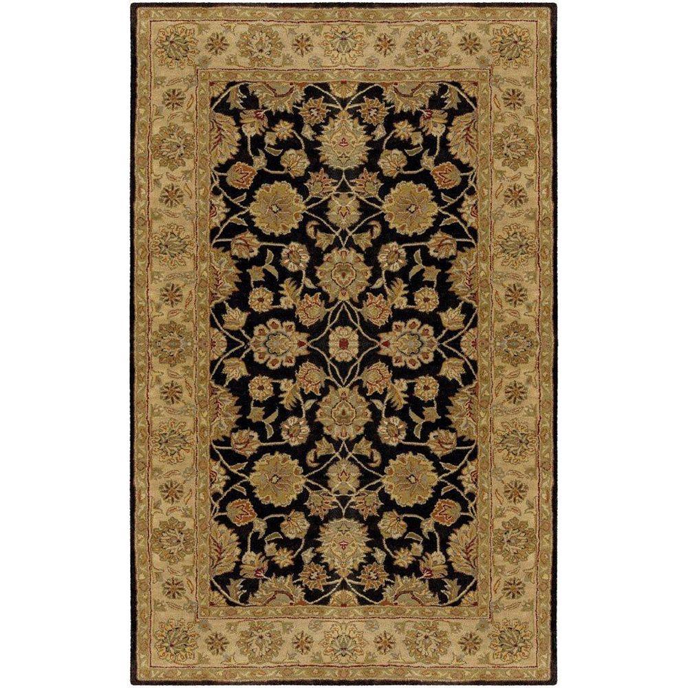 Artistic Weavers Palaiseau Black 6 ft. x 9 ft. Indoor Traditional Rectangular Area Rug