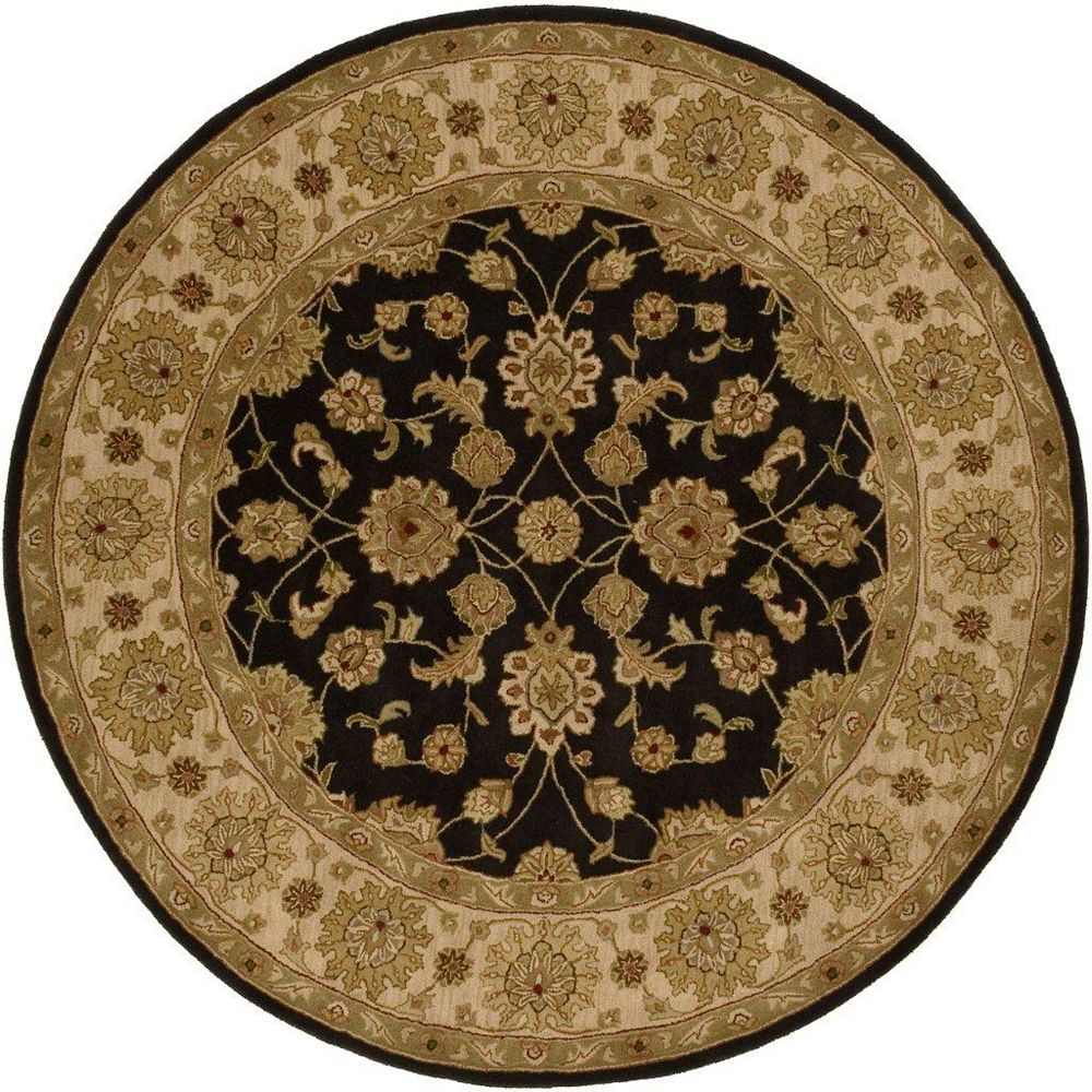 Artistic Weavers Palaiseau Black 8 ft. x 8 ft. Indoor Transitional Round Area Rug