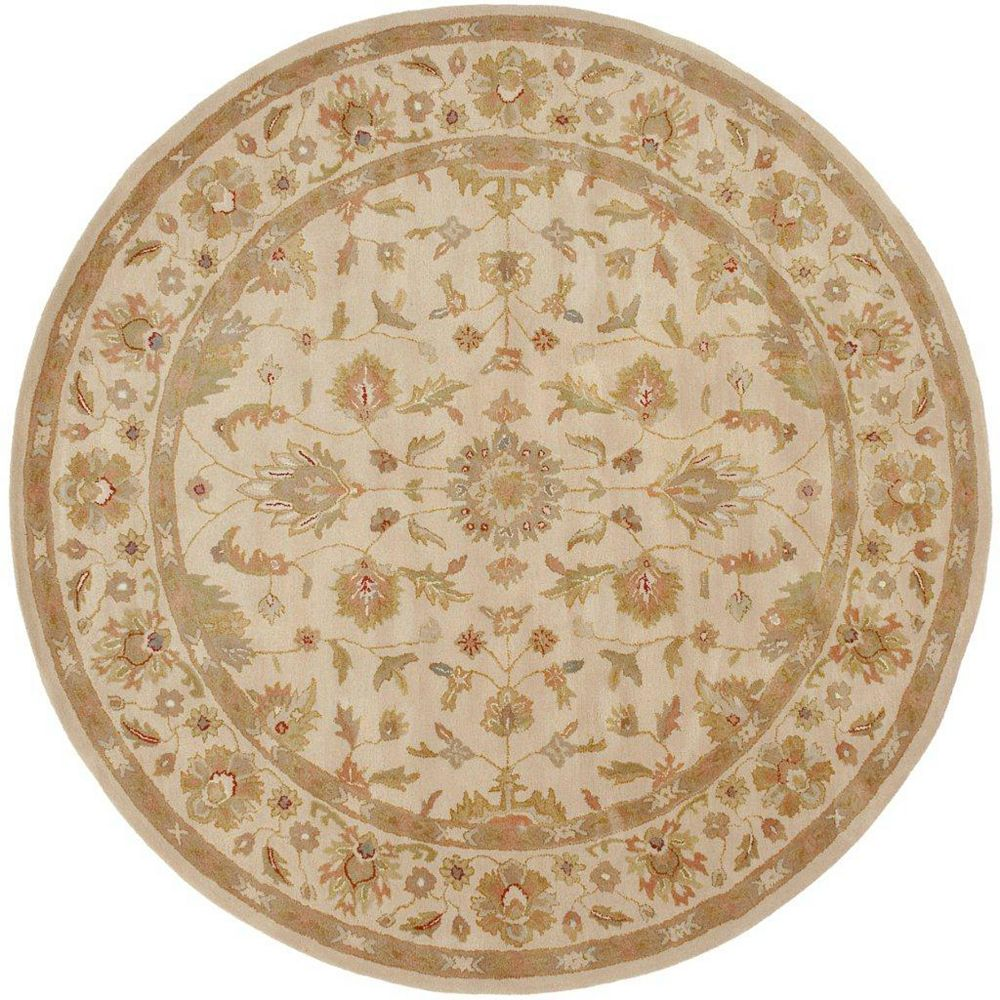 Artistic Weavers Carpette d'intérieur, 8 pi x 8 pi, style traditionnel, ronde, havane Palaja