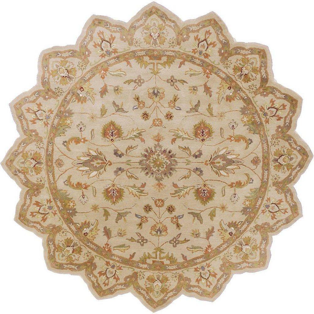 Artistic Weavers Palaja Beige Tan 8 ft. x 8 ft. Indoor Transitional Irregular Area Rug
